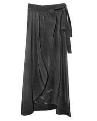 ed21c13cc Lyst - Cynthia Rowley Long Wrap Skirt in Black
