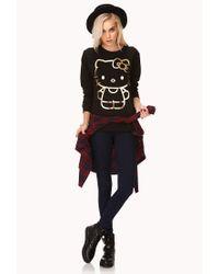 Forever 21 - Black Metallic Hello Kitty Sweatshirt - Lyst