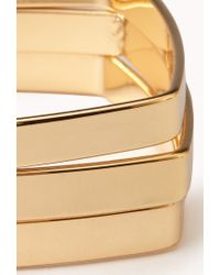 Forever 21 - Metallic Modernist Square Bangle Set - Lyst