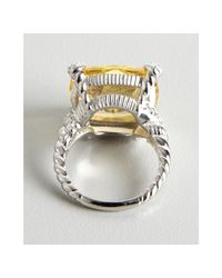 Judith Ripka | Metallic Canary Crystal And White Sapphire Wrapped Ring | Lyst