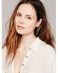 Free People | Green Ombre Crystal Stud Bar | Lyst