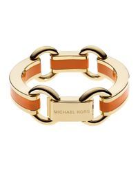 Michael Kors | Orange Link Bracelet  | Lyst