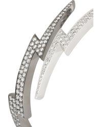 Anita Ko - Metallic Lightning Bolt 18karat White Gold Diamond Bracelet - Lyst