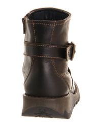 Fly London - Brown Sake Buckle Ankle Boot - Lyst
