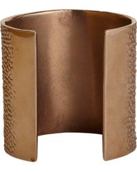 Givenchy | Pink Vintage Rose Gold Shagreen Textured Cuff | Lyst