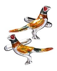 Jan Leslie - Multicolor Pheasant Sterling Silver Cuff Links for Men - Lyst
