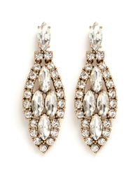 J.Crew | Metallic Crystal Icicle Earrings | Lyst