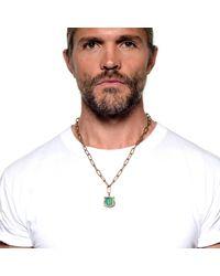 Lulu Frost - Metallic George Frost Bullet Sheild Necklace Brass for Men - Lyst