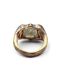 Lulu Frost - Metallic George Frost Bullet Shield Ring Brass for Men - Lyst