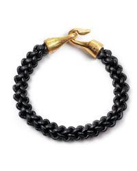 Lulu Frost - George Frost Zipper Harpoon Bracelet Black for Men - Lyst