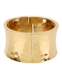 Robert Lee Morris | Metallic Goldtone Wide Hinged Bangle Bracelet | Lyst