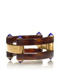 Tory Burch | Brown Grasset Stone Bracelet | Lyst