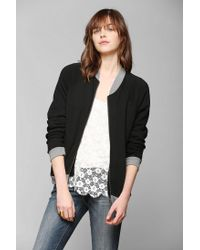 Urban Outfitters - Black Bycorpus Bomber Zip Up Sweatshirt - Lyst