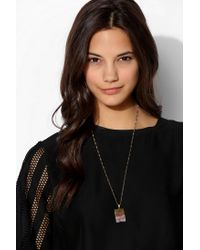 Urban Outfitters | Purple Jessica Decarlo Amethyst Slice Necklace | Lyst