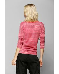Urban Outfitters - Red Color Fast Thermal Henley Top - Lyst