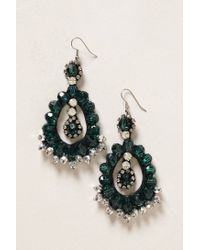 Anthropologie | Green Ear Emerald Hoop | Lyst
