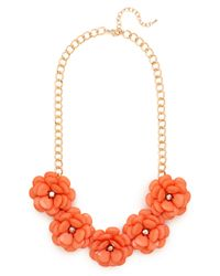 BaubleBar - Orange Jumbo Bloom Bib - Lyst