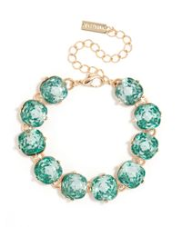 BaubleBar | Green Cushion Cut Bracelet | Lyst