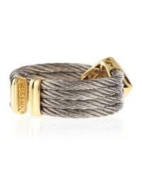 Charriol - Gray Diamond Rhombus Cable Ring - Lyst