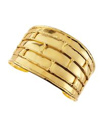 Devon Leigh | Metallic Gold Splitback Cuff | Lyst