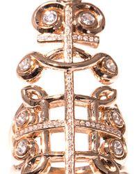 Nikos Koulis - Diamond Pink Gold Cutout Ring - Lyst