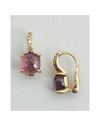Pomellato | Metallic Gold and Amethyst Diamond Estate Earrings | Lyst