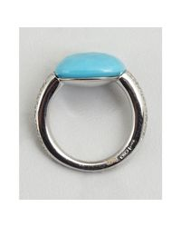 Pomellato - Blue White Gold and Turquoise Diamond Estate Ring - Lyst