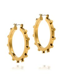 Tory Burch | Metallic Small Rivet Hoop Earring | Lyst
