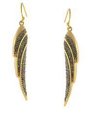 Vince Camuto - Metallic Flights Of Fantasy Wing Earrings - Lyst