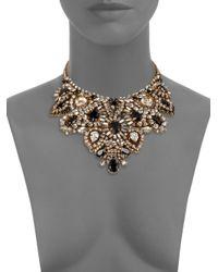 Aerin Erickson Beamon - Black Crystal Bib Necklace - Lyst