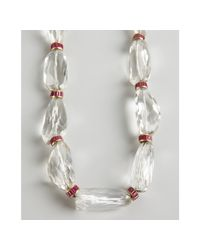 Amrapali - Red Ruby and Large Crystal Necklace - Lyst