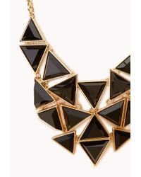 Forever 21 - Black Angular Bib Necklace - Lyst