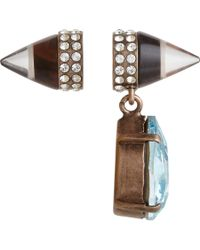 Givenchy - Blue Obsidian Double Cone Crystal Drop Earrings - Lyst