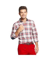 Tommy Hilfiger | Red Zane Plaid Shirt for Men | Lyst