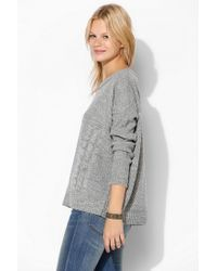 Urban Outfitters - Gray Love Madly Mixedstitch Sweater - Lyst
