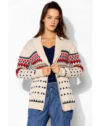 Urban Outfitters | Natural Love Madly Fair Isle Cardigan | Lyst