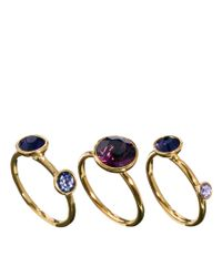 Denham | Purple Ted Baker Jewel Stack Rings | Lyst