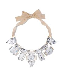 Vince Camuto - Natural Rhinestone Ribbon Necklace - Lyst