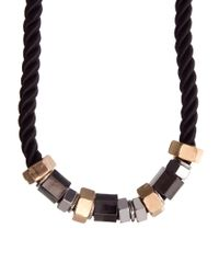 Mimi Holliday by Damaris - Black New Look Limited Edition Nuts Bolts Necklace - Lyst