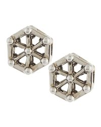 Eddie Borgo | Metallic Aerator Stud Earrings | Lyst