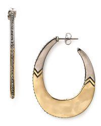 House of Harlow 1960 - Metallic Modern Tribal Hoop Earrings - Lyst