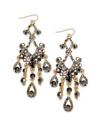 INC International Concepts | Metallic Gold-tone Multicolor Teardrop Earrings | Lyst