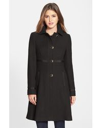 Ivanka Trump   Black Club Collar Wool Blend Coat   Lyst