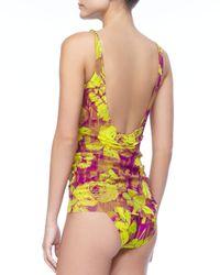 Jean Paul Gaultier - Multicolor Overlay Floralprint Tankini - Lyst