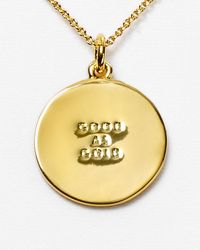 kate spade new york | Metallic Good As Gold Pendant Necklace 18 | Lyst