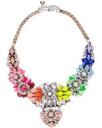 Shourouk - Multicolor Apolonia Rainbow Necklace - Lyst