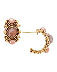 Stephen Dweck - Metallic Agate and Pearl Hoop Earrings - Lyst