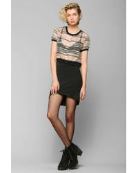 Urban Outfitters - Black Nameless Asymmetrical Mini Skirt - Lyst