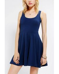 Urban Outfitters - Blue Sparkle Fade Knit Skater Dress - Lyst