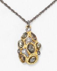 Alexis Bittar - Metallic Multi Stone Cluster Chestnut Pendant Necklace 16 - Lyst